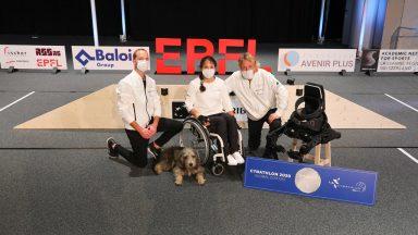 Paraplegic athlete Silke Pan brilliantly represented EPFL at the 2020 Cybathlon