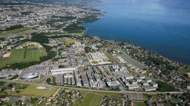 Vue aéienne du campus de l'EPFL