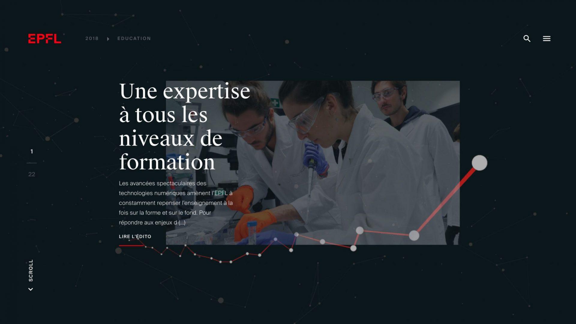 Capture d'écran du rapport annuel 2018