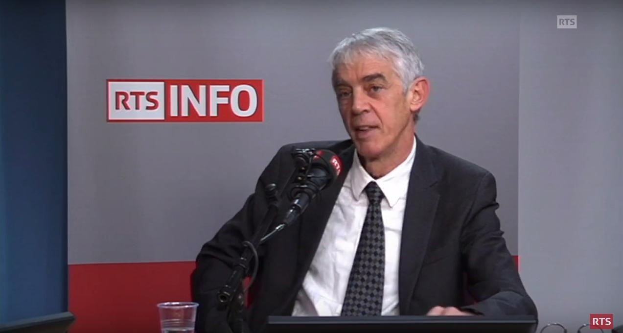 Martin Vetterli lors de son passage dans l'émission «L'invité de la rédaction» de la RTS, le 12 décembre 2016