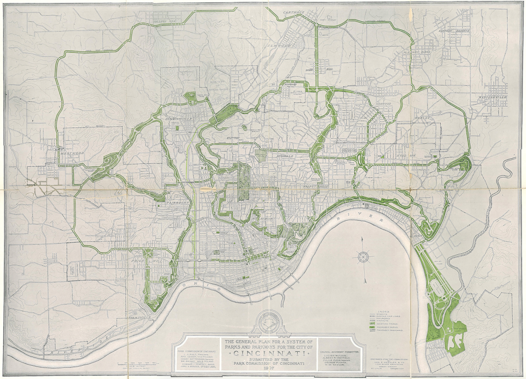 Frederika and George Kessler, The General Plan for a System of Parks and Parkways for the City of Cincinnati, 1907 © Library of Congress