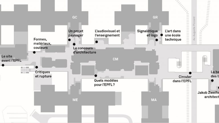 Exposition Les premiers batiments de l'EPFL