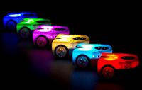 Robot Thymio en couleurs - laboratoire de systèmes robotiques EPFL - photo Gordana Gerber