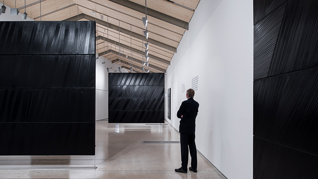 1457db5240c5 Les Outrenoirs de Pierre Soulages has an atypical and experimental  character and suggests new ways of understanding, presenting and conserving  the works.