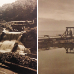 Le Flon, image de gauche: Vallée de la Jeunesse, image de droite: étendue d'un km dans le Lac Léman, 1929 © Musée historique de Lausanne
