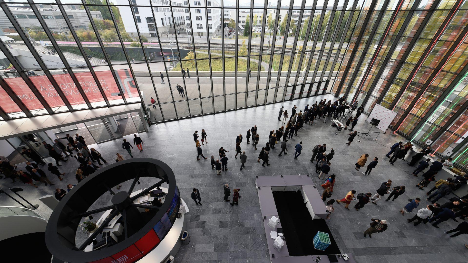 Intérieur du SwissTech Convention Center durant la Magistrale 2018