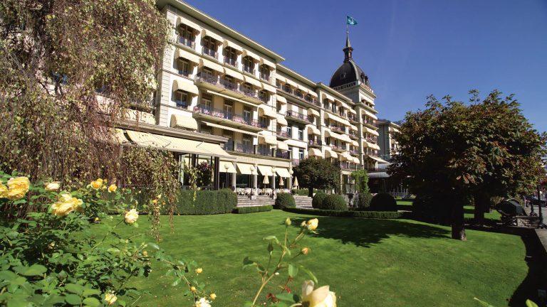 Vue du Victoria Jungfrau Hotel