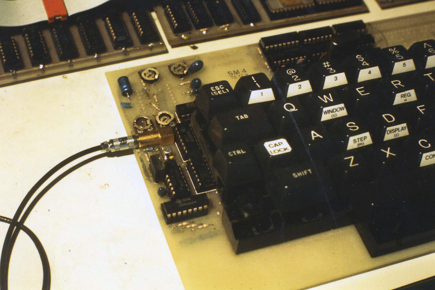 Smaky 4 keyboard with Cobus interface, from 1976