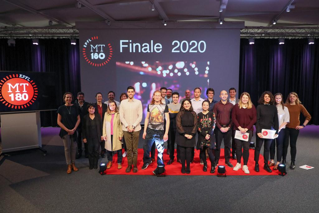 Candidats jury et organisateurs Finale EPFL MT180 2020 © Alain Herzog