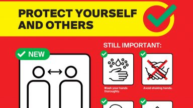 Flyer Protect yourself and others