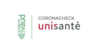 Logo du coronaCheck d'Unisanté