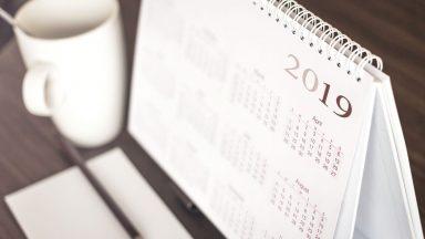 Calendrier 2019 du plan de parution