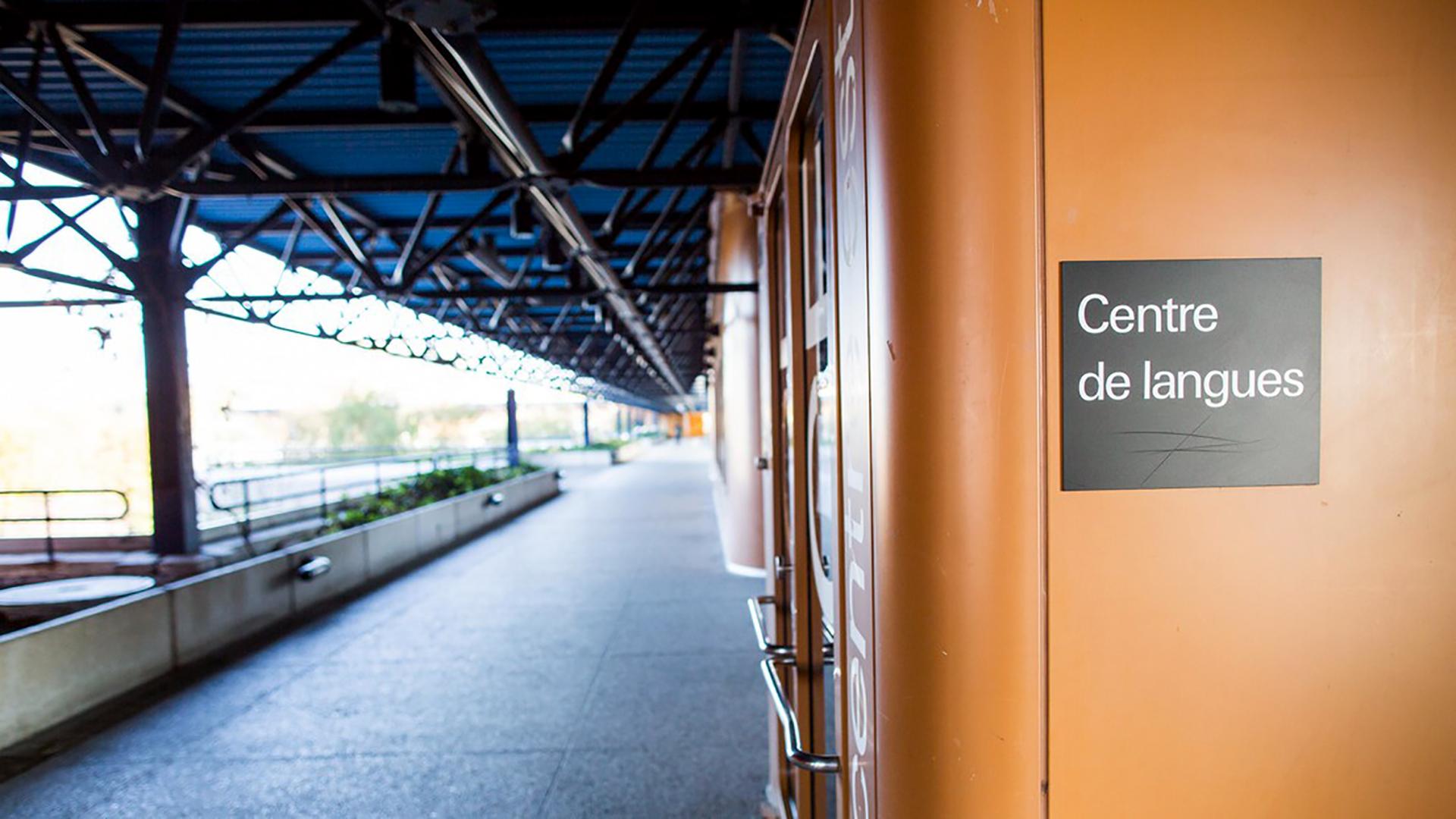 Entrée du Centre de langues