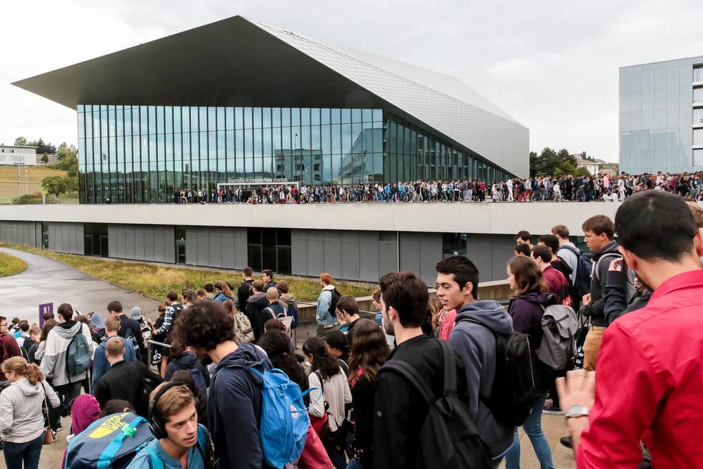 Etudiants EPFL en journée d'accueil