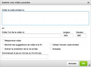 Insérer et paramétrer une vidéo dans une actu