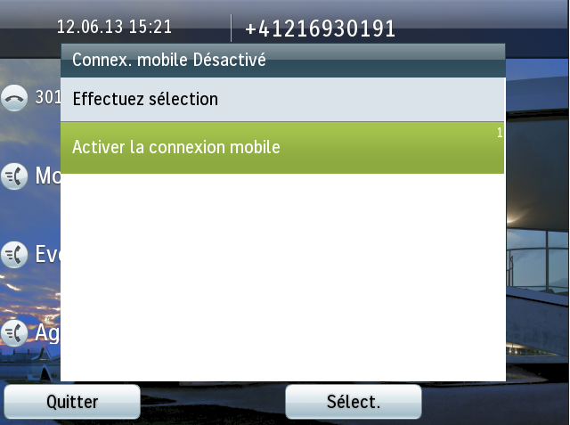 Activer la connexion mobile