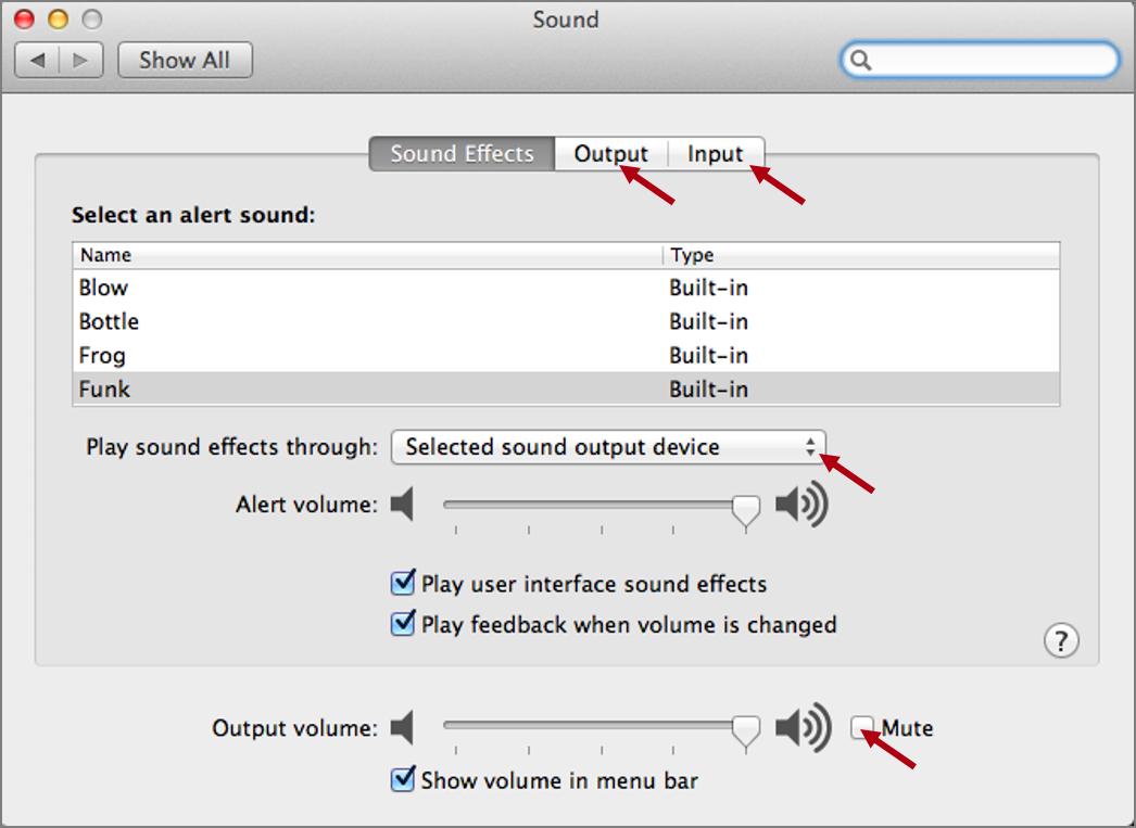 réglages sons systèmes