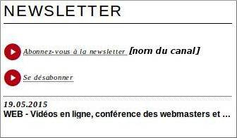 Newsletter en ligne
