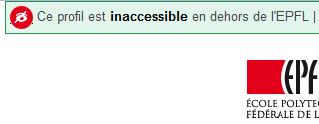 Profil inaccessible