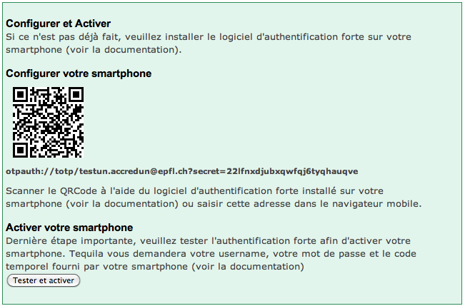 Activate Strong Authentication on Smartphone – Services and
