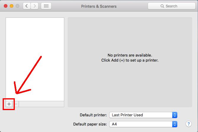 mac add printer