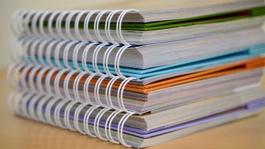 Picture of pile of notebooks