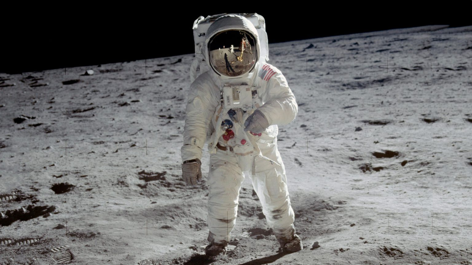 Buzz Aldrin pictured by Neil Armstrong