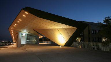 Le bâtiment ArtLab, de nuit