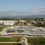Vue aérienne du Rolex Learning Center