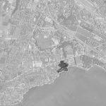 Situation du projet d'Olympie et délimitation des communes, commune de Saint-Sulpice.