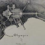 Plan du projet de l'Olympie situé au bord du lac Léman.