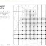 Plan avec une grille en pointillés illustrant l'organisation modulaire de l'EPFL.