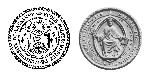 Comparaison des sceaux de l'EPUL (1946) et de l'UNIL (1937), représentant le Christ en mandorle.