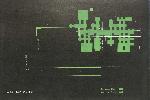 Plan dessiné en vert sur fond noir avec les bâtiments CE et CM encadrés en blanc.