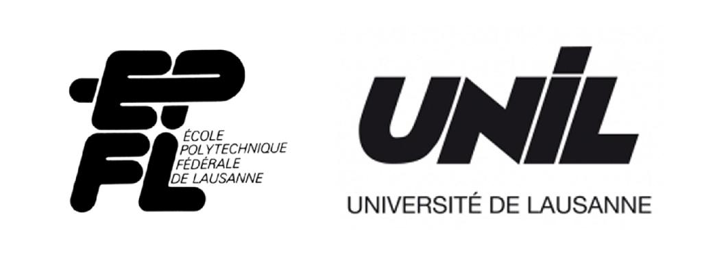Comparaison des logos de l'EPFL (1980) et de l'UNIL (1981).