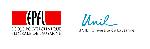 Comparaison des logos de l'EPFL (1994) et de l'UNIL (2005).