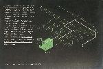 Plan de cheminement en vert et plan sur fond noir.