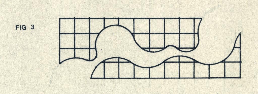 Schéma conceptuel illustrant la grille rigide du plan qui s'adapte aux programmes fluides du projet de l'EPFL.