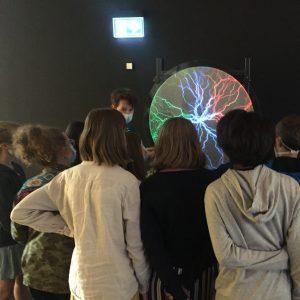 exposition Technorama à l'EPFL - visite d'une classe