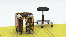 RB stool passive pieces.