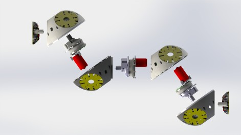 Exploded view of a Roombots module
