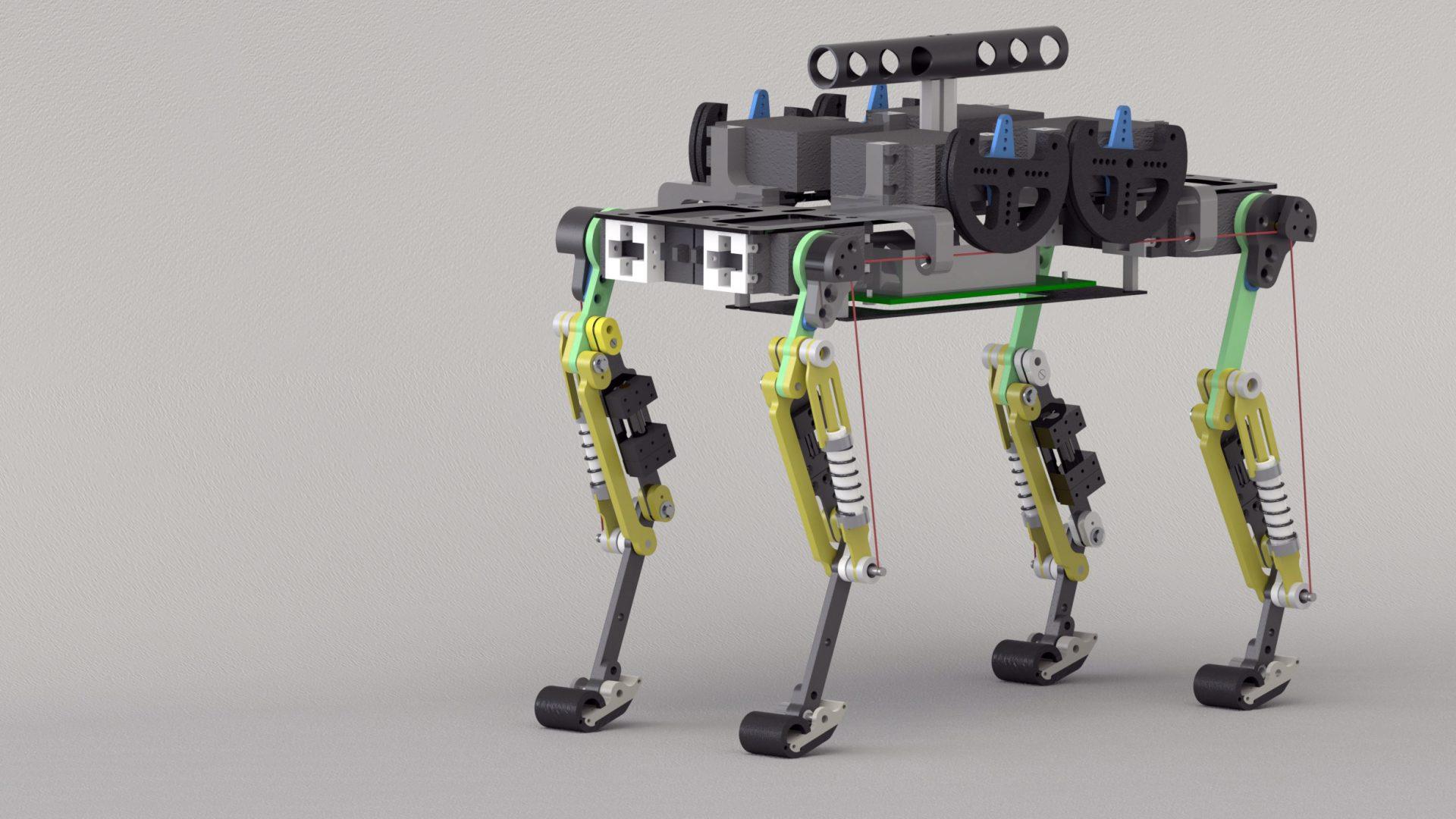 Picture of Cheetah-cub, a compliant quadruped robot