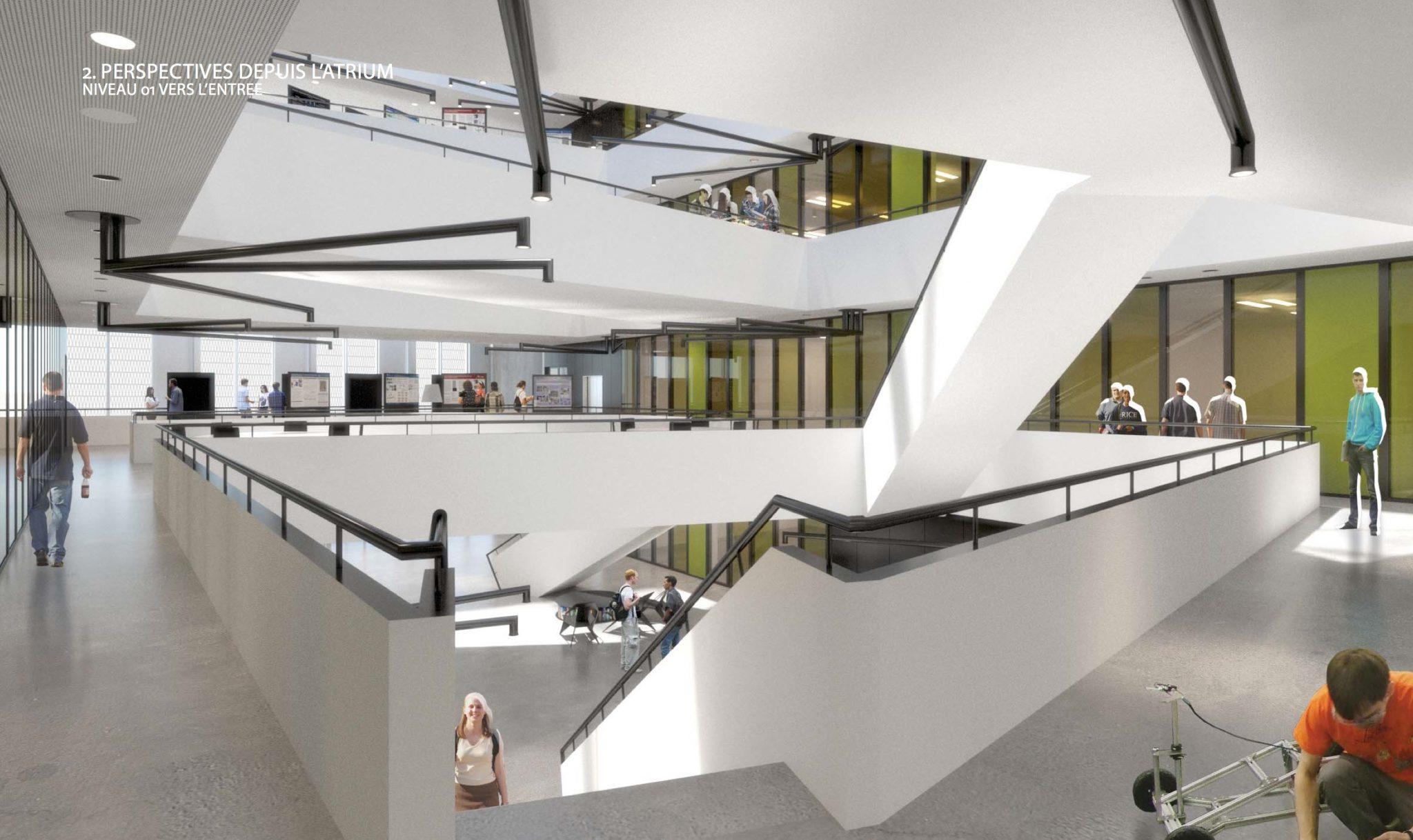 Le prmier étage du bâtiment MED