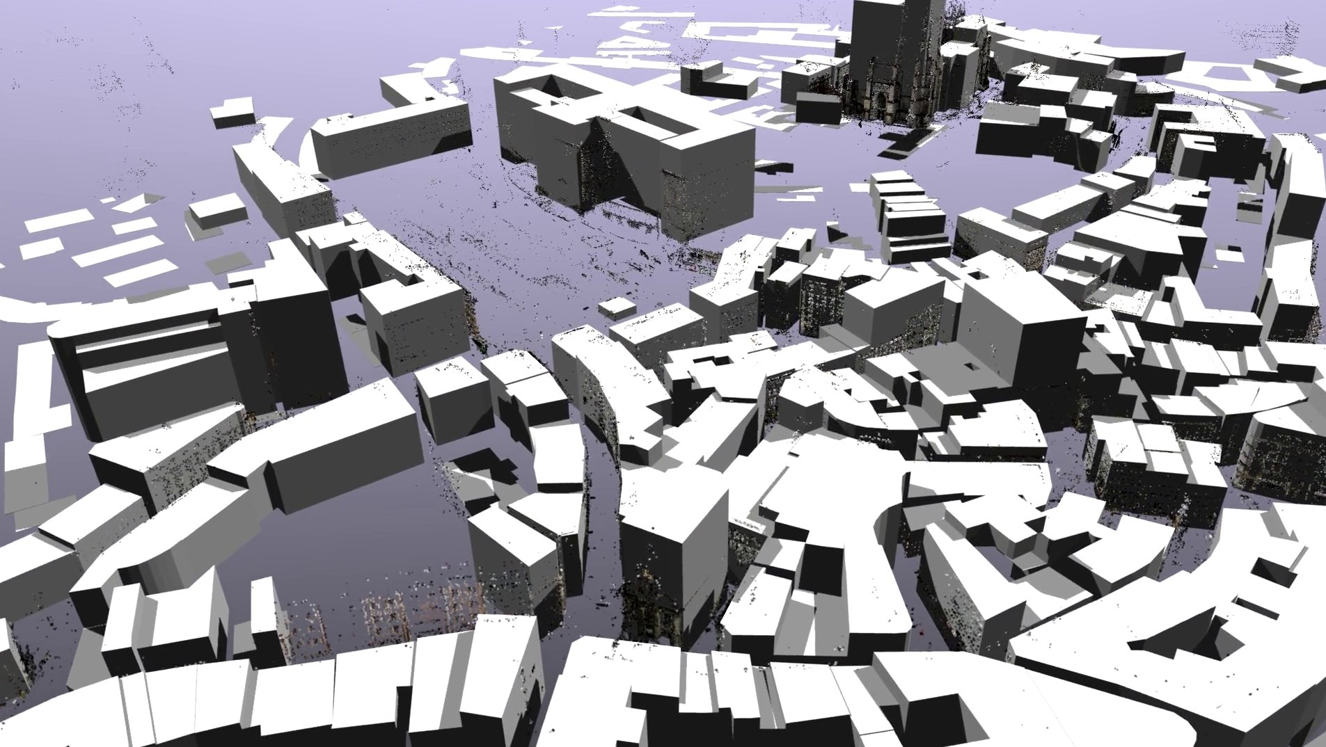 3D rendering of the Lausanne dataset