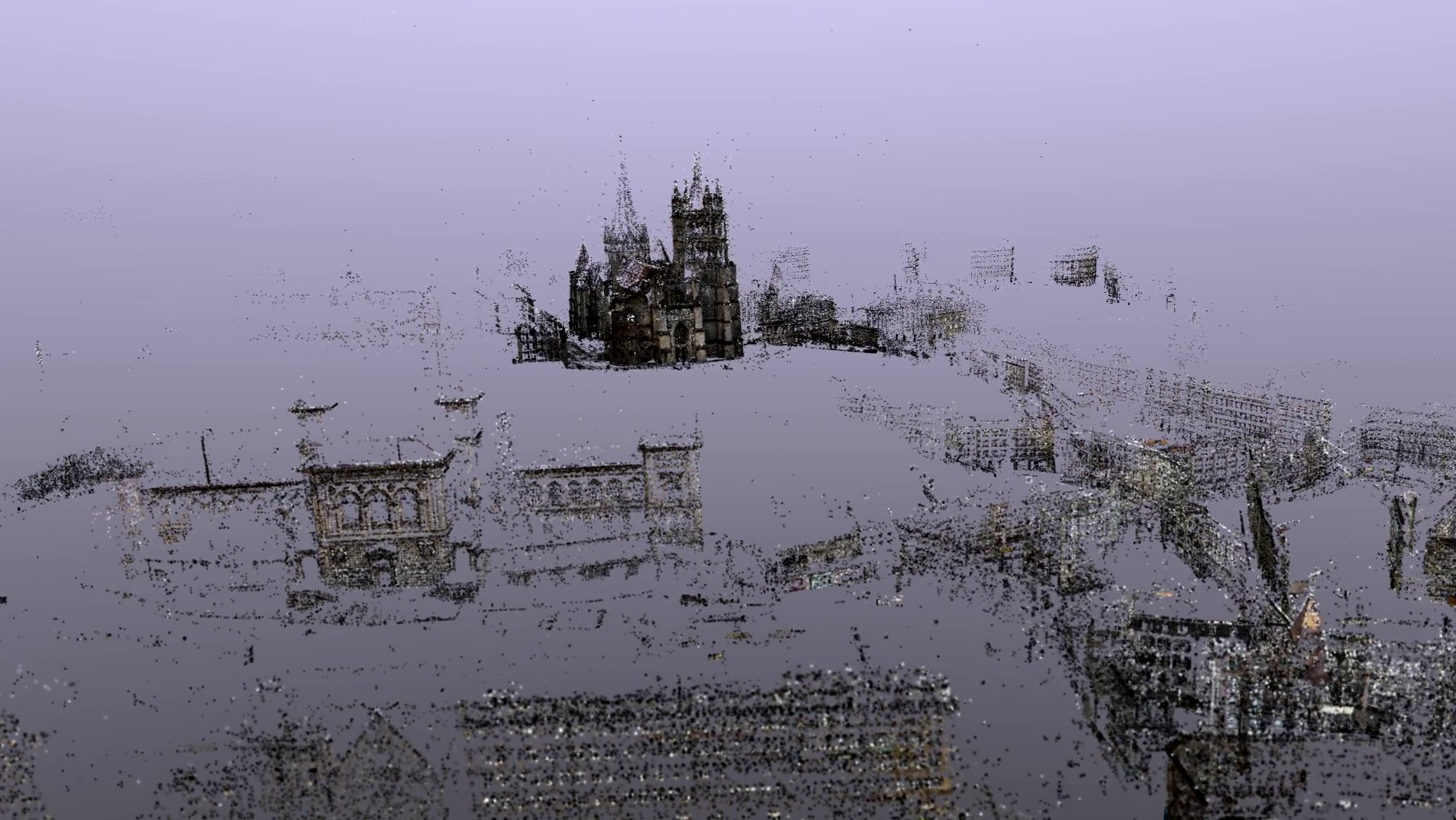 Point cloud rendering of the Lausanne dataset