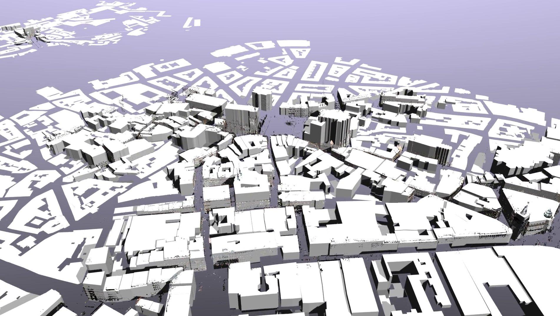 3D rendering of the Prague dataset