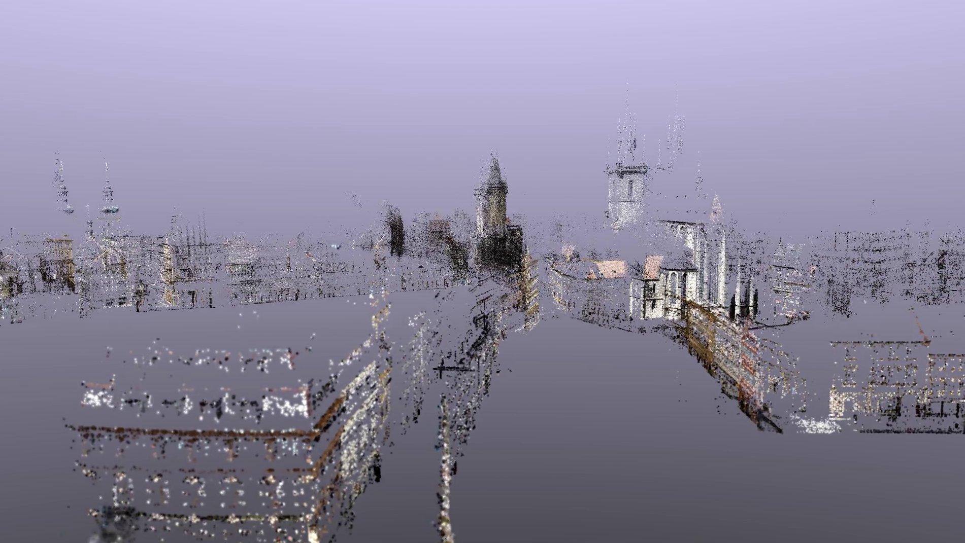 Cloud point rendering of the Prague dataset
