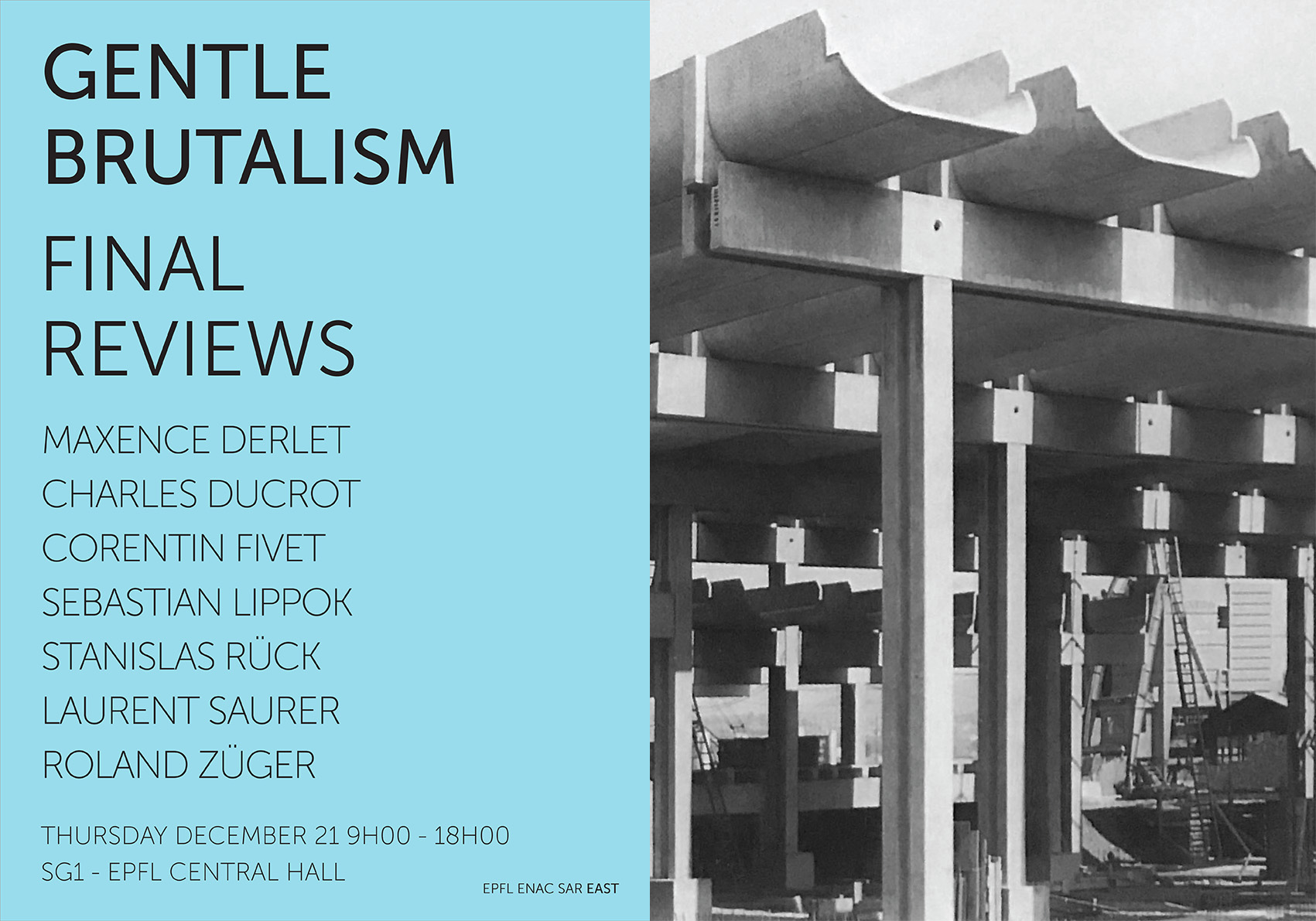 Poster Final reviews Gentle Brutalism