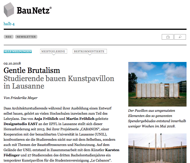 Printscreen of baunetz site