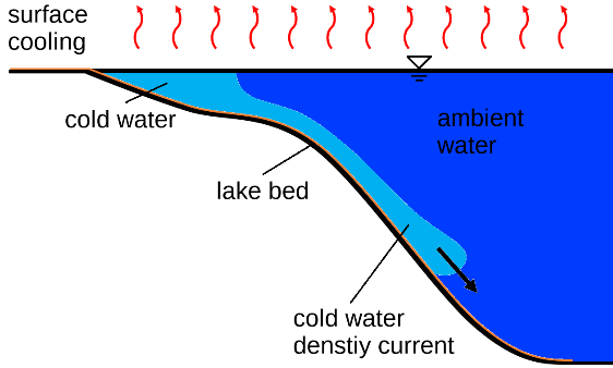 Cascading Density Currents from the Petit Lac to the Grand Lac of